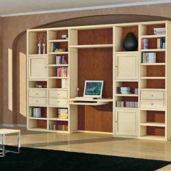 Libreria con scrivania pensile